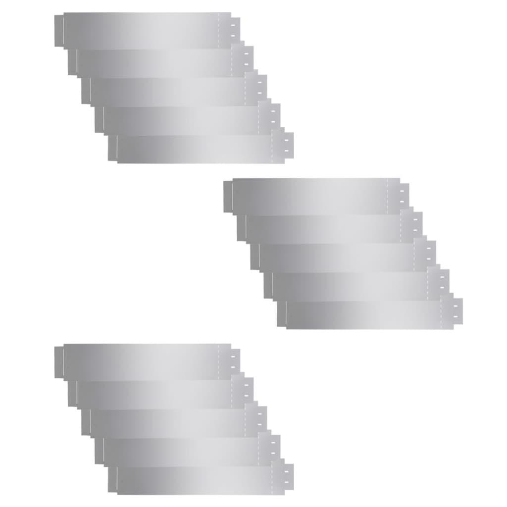 Afbeelding van vidaXL Grasboorden 100x20 cm gegalvaniseerd staal 15 st