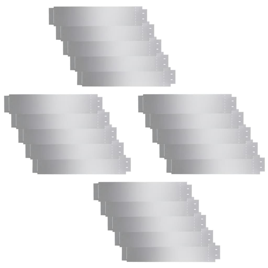 Afbeelding van vidaXL Grasboorden 100x20 cm gegalvaniseerd staal 20 st