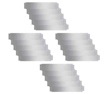 vidaXL Plengjerde 20 stk galvanisert stål 100x20 cm