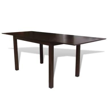 vidaXL 9-dijelni blagovaonski set s produžnim stolom smeđi[2/8]
