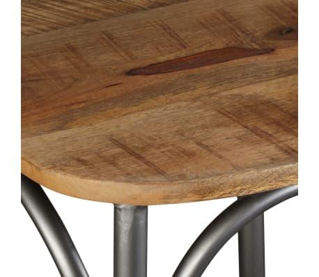 vidaXL Chaise de salle à manger 6 pcs Bois de manguier massif et acier[9/11]