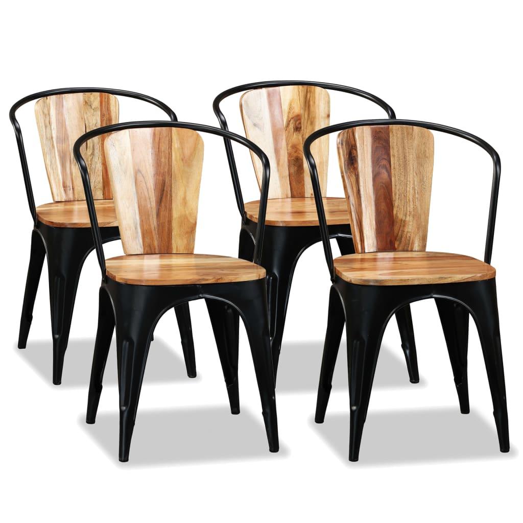 vidaXL Καρέκλες Τραπεζαρίας 4 τεμ. από Μασίφ Ξύλο Ακακίας
