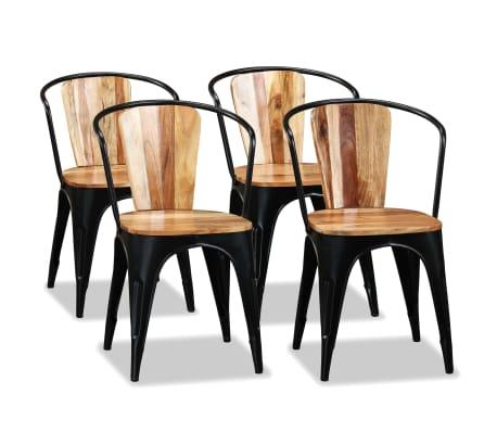 vidaXL Krzesła do jadalni, 4 szt., lite drewno akacjowe