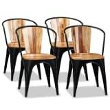 vidaXL Chaise de salle à manger 4 pcs Bois d'acacia massif