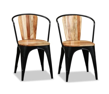 vidaXL Sillas de comedor de madera maciza de acacia 4 unidades[6/10]