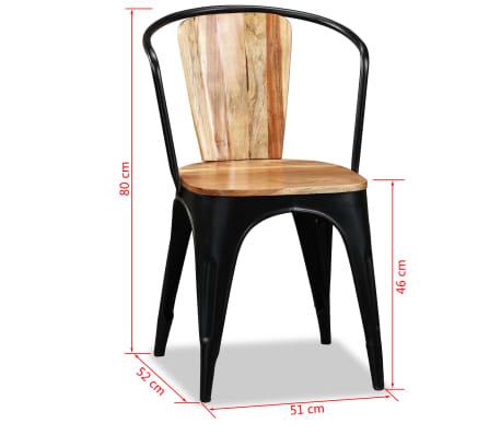 vidaXL Sillas de comedor de madera maciza de acacia 4 unidades[10/10]