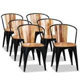 vidaXL Jedálenské stoličky 6 ks, akáciový masív