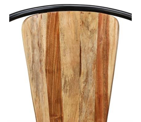 vidaXL Sillas de comedor de madera maciza de acacia 6 unidades[7/10]