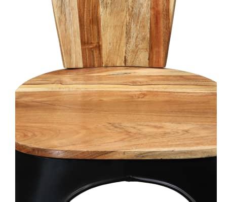 vidaXL Sillas de comedor de madera maciza de acacia 6 unidades[9/10]