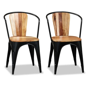 vidaXL Sillas de comedor de madera maciza de acacia 6 unidades[4/10]