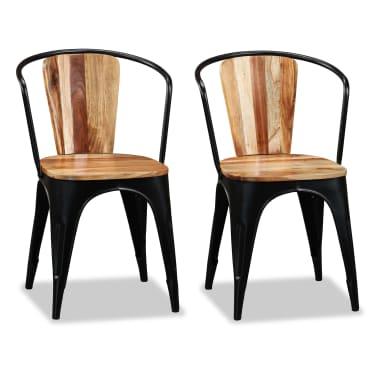 vidaXL Sillas de comedor de madera maciza de acacia 6 unidades[5/10]