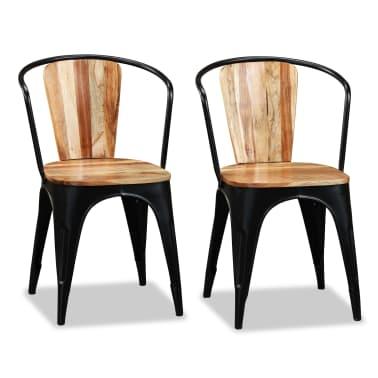 vidaXL Sillas de comedor de madera maciza de acacia 6 unidades[6/10]
