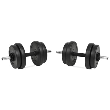 vidaXL håndvægtsæt i 14 dele 20 kg[2/6]