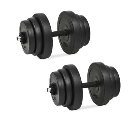 vidaXL Juego de mancuernas 18 piezas 40 kg