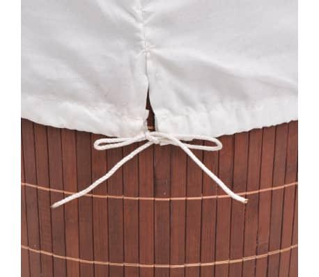 vidaXL Cesto de la ropa de bambú redondo marrón[6/6]