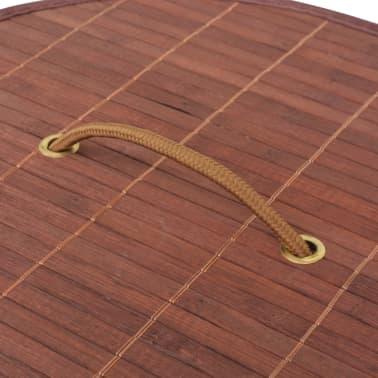 vidaXL Cesto de la ropa de bambú redondo marrón[5/6]