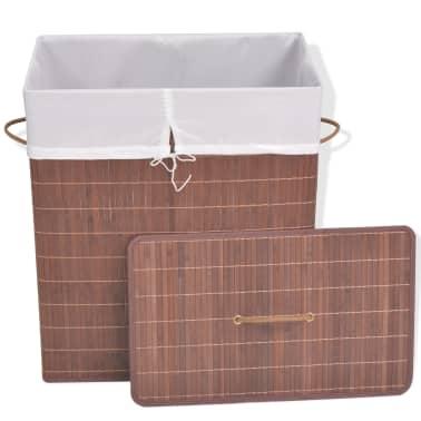 vidaXL Koš za perilo iz bambusa pravokoten rjav[2/6]