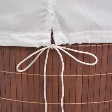 vidaXL Koš za perilo iz bambusa pravokoten rjav[6/6]