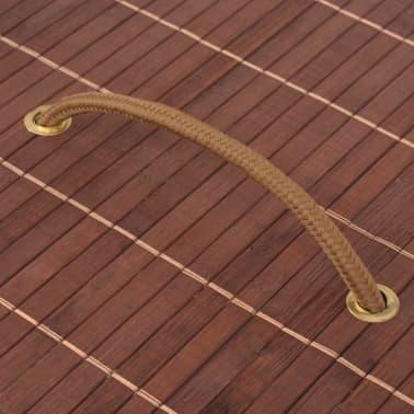 vidaXL Cesto de la ropa de bambú ovalado marrón[5/6]