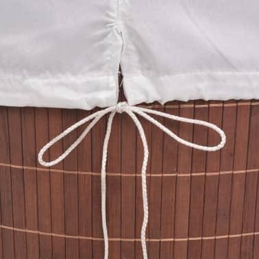 vidaXL Cesto de la ropa de bambú ovalado marrón[6/6]