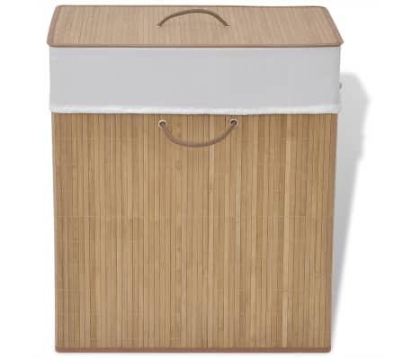 vidaXL Bamboo Laundry Bin Rectangular Natural[1/6]