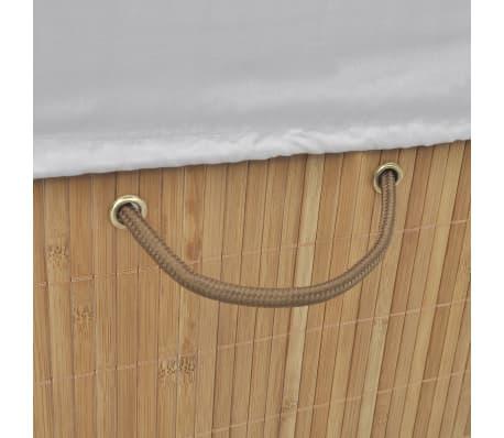 vidaXL Bamboo Laundry Bin Rectangular Natural[4/6]