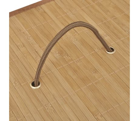 vidaXL Bamboo Laundry Bin Rectangular Natural[5/6]