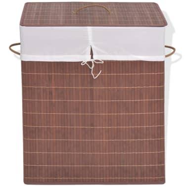 vidaXL Cesto de la ropa de bambú rectangular marrón[1/6]