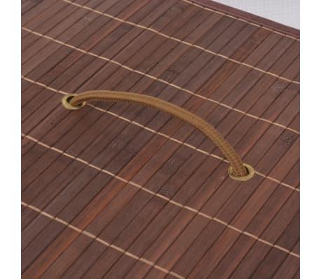 vidaXL Cesto de la ropa de bambú rectangular marrón[5/6]