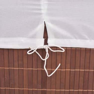 vidaXL Cesto de la ropa de bambú rectangular marrón[6/6]