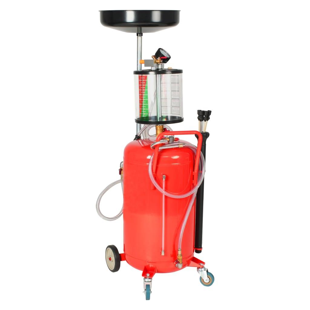 Afbeelding van vidaXL Olie opvangtank 70 L staal rood