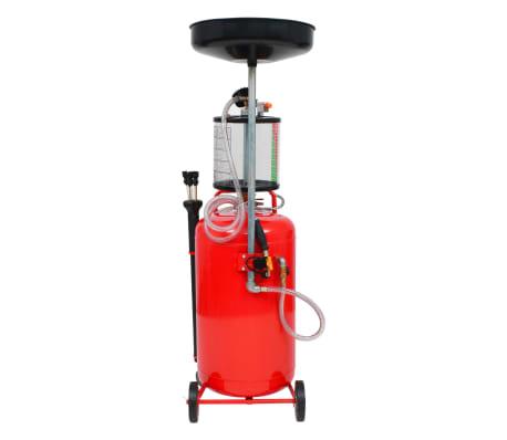 vidaXL Pompe à vidange d'huile usagée 70 L Acier Rouge[4/7]