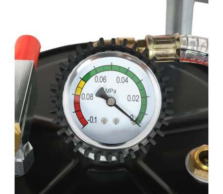 vidaXL Pompe à vidange d'huile usagée 70 L Acier Rouge[5/7]