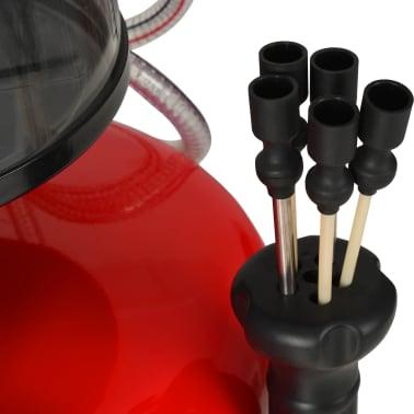 vidaXL Altölauffanggerät 70 L Stahl Rot[6/7]