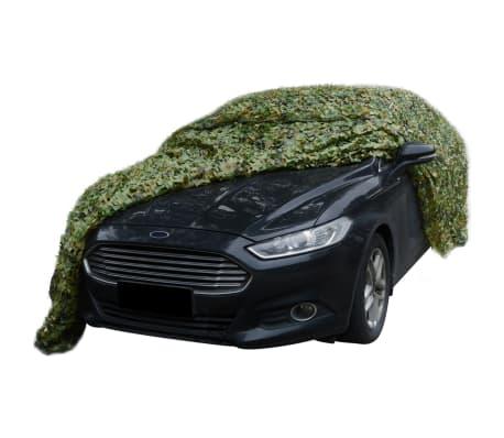 vidaXL Kamufliažinis tinklas su saugojimu krepšiu, 6x6 m[4/4]
