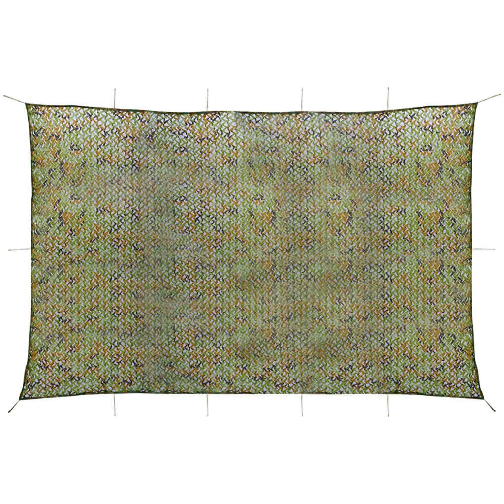 vidaXL Plasă de camuflaj cu geantă de depozitare, 6 x 8 m poza vidaxl.ro