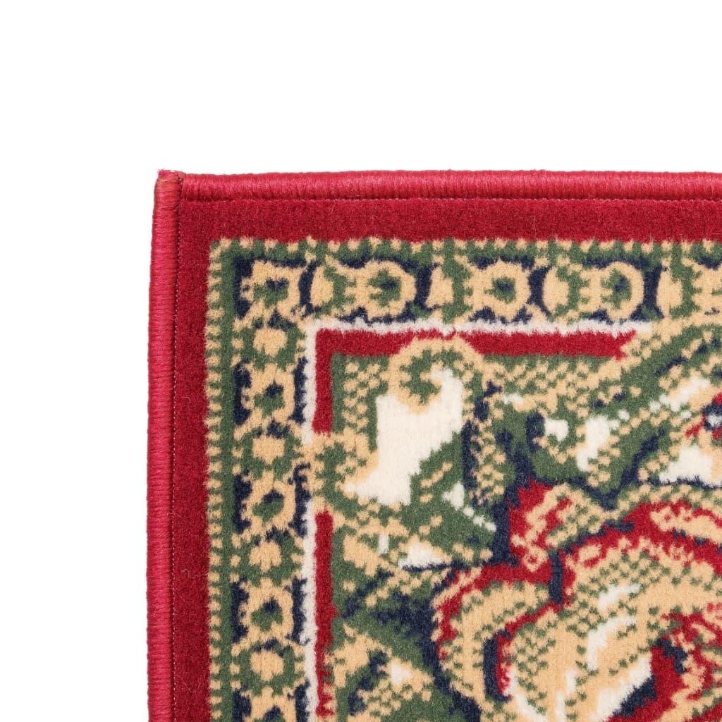 vidaXL Orientální koberec 140 x 200 cm červeno-béžový