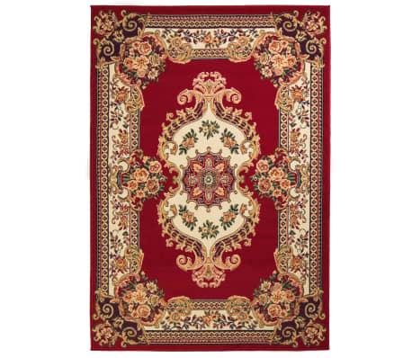 vidaXL Orientalsk teppe 120x170 cm rød/beige