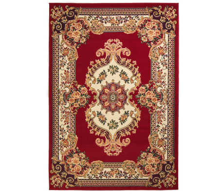 acheter vidaxl tapis oriental design persan 140 x 200 cm rouge beige pas cher. Black Bedroom Furniture Sets. Home Design Ideas