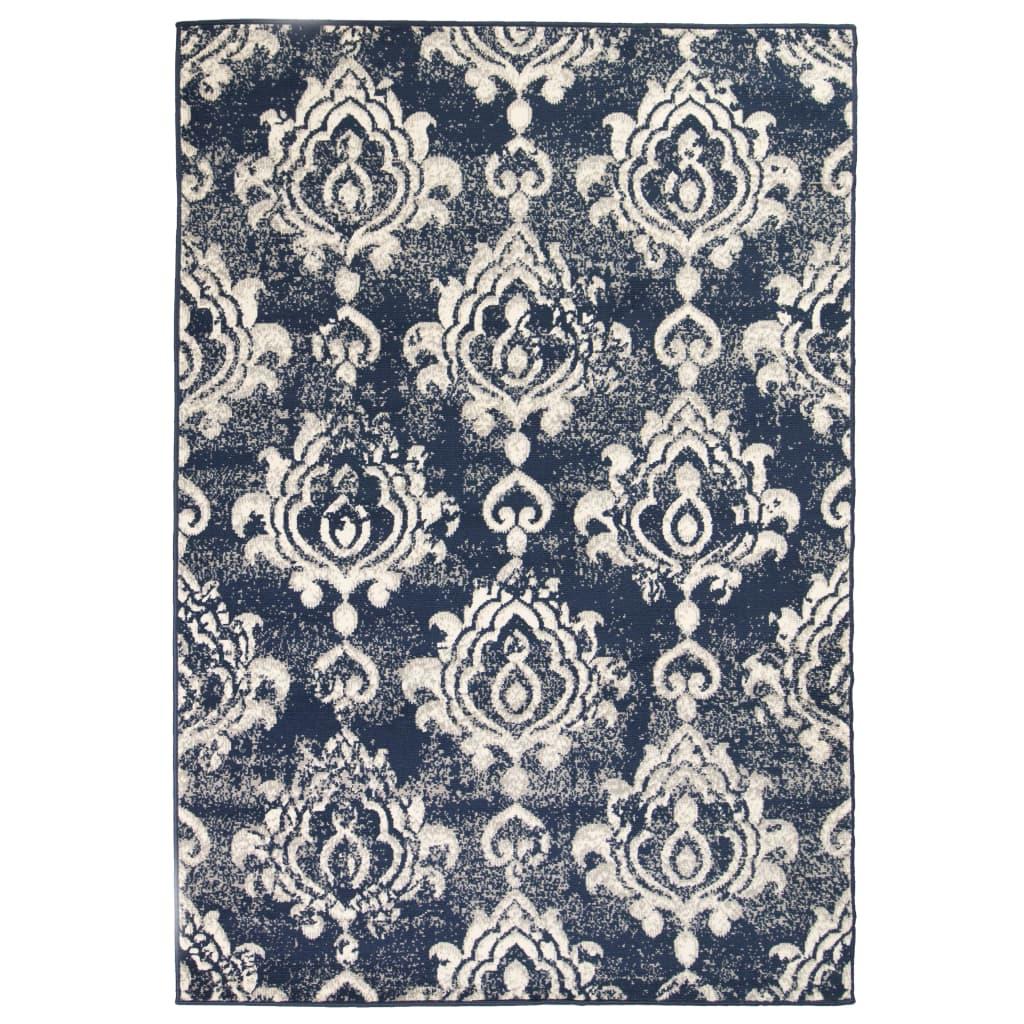 vidaXL Moderní koberec s kašmírovým vzorem 80 x 150 cm béžovo-modrý