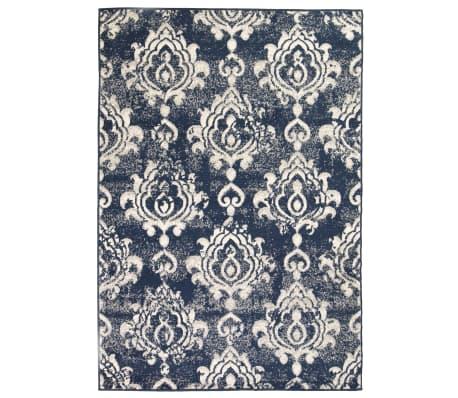 vidaXL Tappeto Moderno con Motivi Paisley 80x150 cm Beige/Blu[1/5]