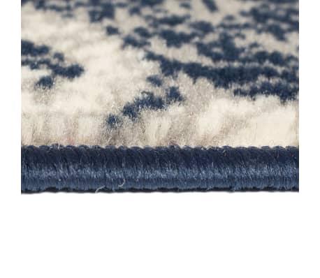 vidaXL Tappeto Moderno con Motivi Paisley 80x150 cm Beige/Blu[3/5]