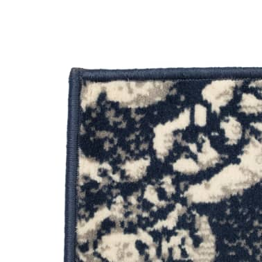 vidaXL Tappeto Moderno con Motivi Paisley 80x150 cm Beige/Blu[2/5]