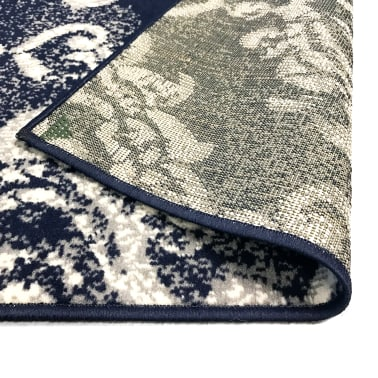 vidaXL Tappeto Moderno con Motivi Paisley 80x150 cm Beige/Blu[5/5]