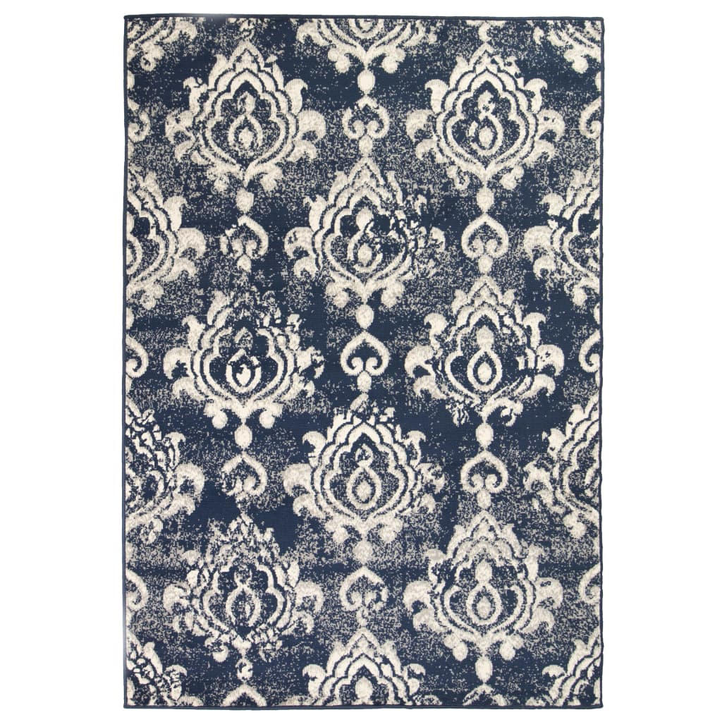999133003 Teppich Modern Barock-Ornamente Vintage 120 x 170 cm Beige/Blau