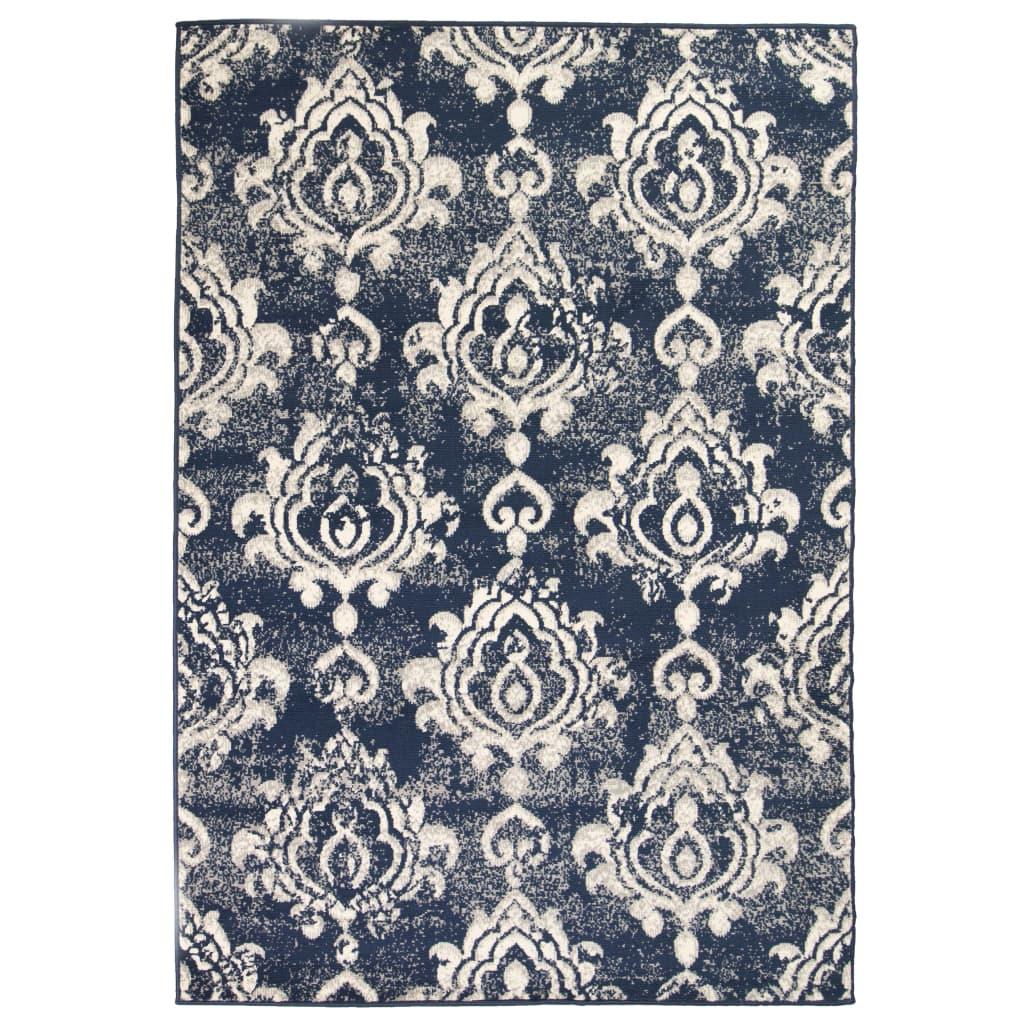 999133004 Teppich Modern Barock-Ornamente Vintage 140 x 200 cm Beige/Blau