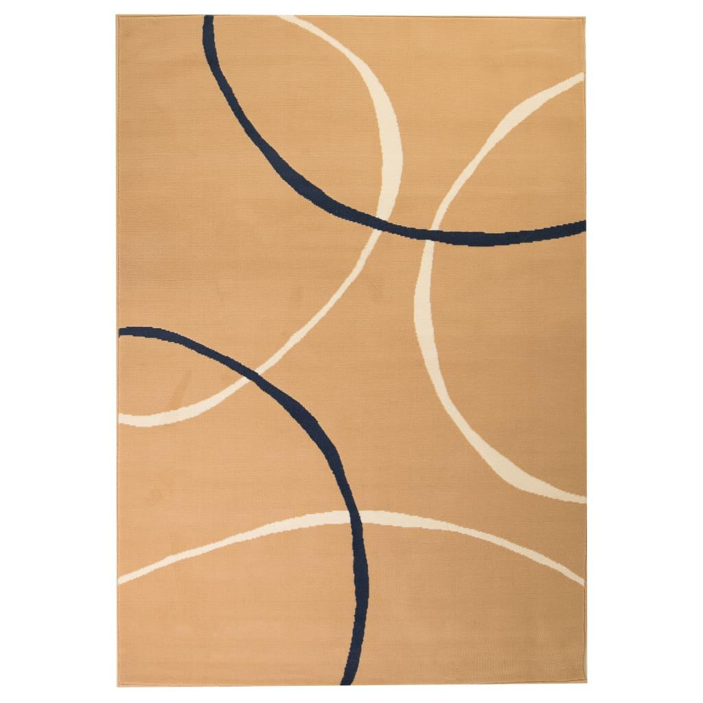 Moderní koberec s kruhovým vzorem 80 x 150 cm hnědý