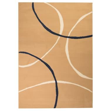 vidaXL Tappeto Moderno con Motivi Circolari 80x150 cm Marrone[1/5]