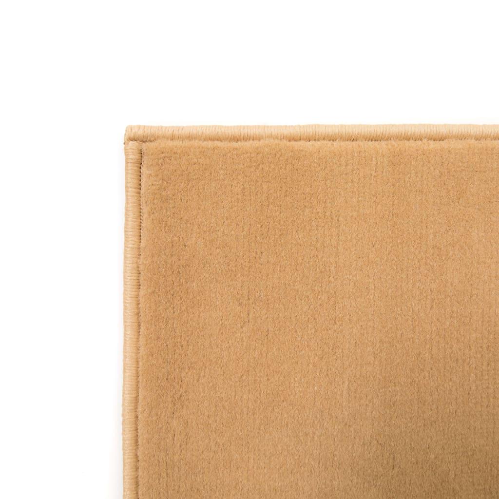 vidaXL Moderní koberec s kruhovým vzorem 120 x 170 cm hnědý