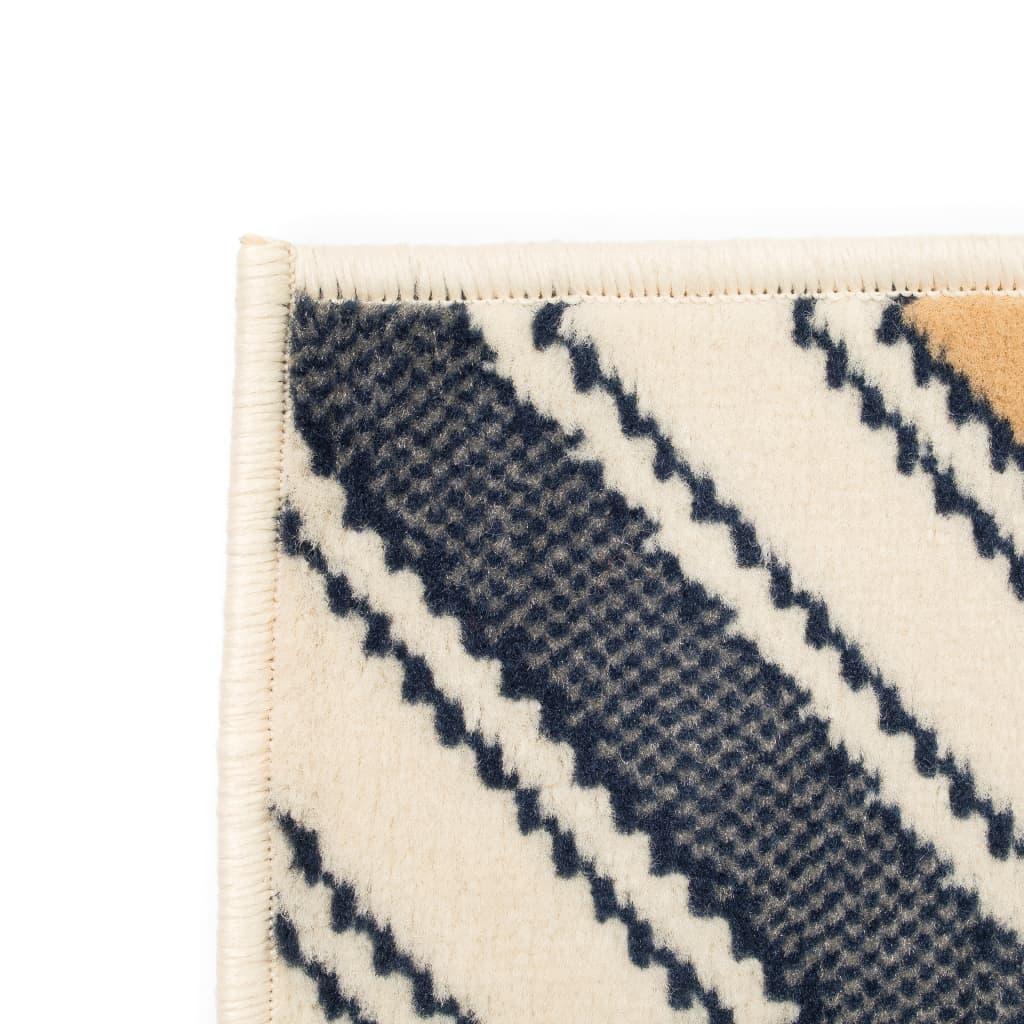 vidaXL Moderní koberec se zigzag vzorem 140 x 200 cm hnědo-černo-modrý